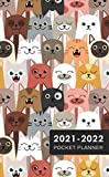 2021-22 Cat Faces 2-Year Pocket Planner: 2021-2022 Two Year Pocket Planner Monthly Calendar | January 2021 - December 2022