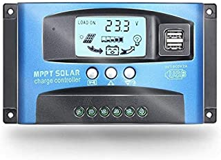 OKBY Regolatore di Carica della Batteria YCX-003-100A 40-100A MPPT Regolatore di Carica del Pannello Solare Regolatore di Messa a Fuoco Automatica 12V//24V