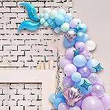 AngYou Latex Balloon Globo Set, Sirena Theme Fiesta de cumpleaños Decoración de la Fiesta Escena de la decoración Props (Style : 2)
