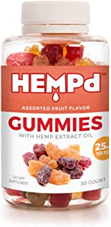 HEMPd 25 mg. Hemp Extract Gummies (750 mg. per 30-Count Bottle)