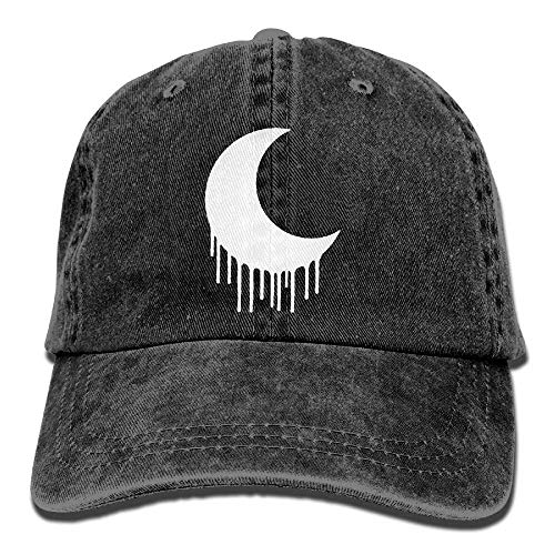 AOHOT Cappellini da baseballClassic Baseball cap, Edgy Goth Crescent Moon Dad Hat Adjustable Baseball cap Mesh Hat Trucker Caps