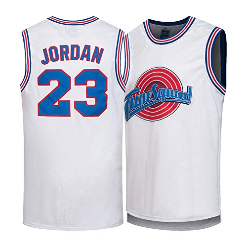 Jordan Movie Space Jam # 23 Camiseta de Baloncesto para Hombre, Camisetas de Baloncesto Bordadas Unisex Retro, Chaleco sin Mangas, Camiseta Deportiva (S-XXL)-L