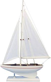 "Hampton Nautical sailboat17-110 Wooden Intrepid sailboat17-110 Sailboat 17"" - Sailboat Decoration - Nautical Decor - Saili..."