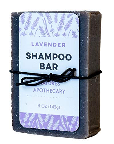 Lavender Sulfate-Free Solid Shampoo Bar - Say 'NO' to Dry Scalp, Eco-Friendly, Vegan,...
