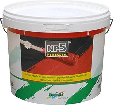 Foto di Naici Guaina Liquida Impermeabilizzante Monocomponente colore Rosso 10 Kg NP5
