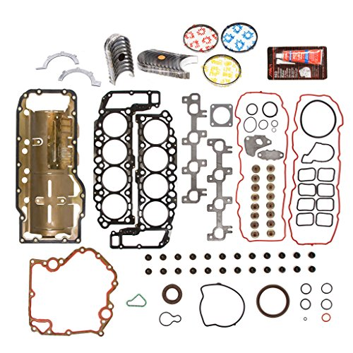 Evergreen Engine Rering Kit FSBRR8-30401EVE Compatible With 04-07 Dodge Durango Dakota Jeep Mitsubishi 4.7 SOHC Full Gasket Set, Standard Size Main Rod Bearings, Standard Size Piston Rings
