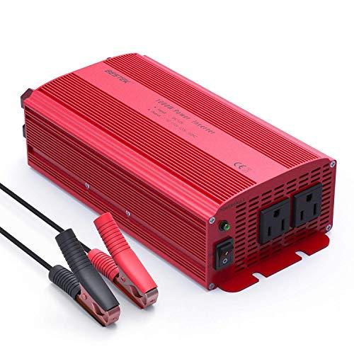 BESTEK Car Power Inverter DC 12V to AC 110V Adapter (1000W)