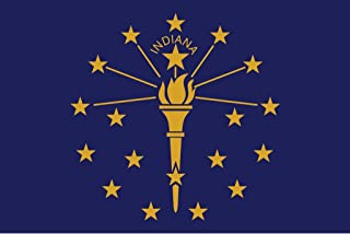 JMM Industries Indiana Flag in Vinyl Decal Sticker The Hoosier State Car Window Bumper 2-Pack 5-Inches by 3-Inches Premium Quality UV-Resistant Laminate PDS320