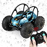 Rc Trucks 4x4 Offroad Waterproof for Boys,Amphibious 2.4Ghz Remote Control Car, Off Road Rc Drift Car and Monster Truck,Suitable for Adults and Kids Rc Boat Beach Toy(Blue)