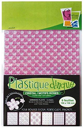 Plastique dingue - Cristal / Motifs roses