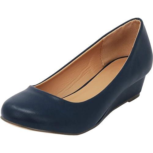 3f38d048435ab Navy Blue Designer Wedges: Amazon.com