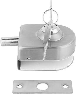 Roestvrijstalen glazen deurslot, grendel voor thuis, badkameraccessoires, glas, schuifdeurslot, geschikt voor 10 ~ 12 mm d...
