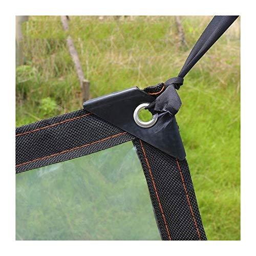 Lona Lona Claro toldo de protección Solar con Ojales, a Prueba de Agua del jardín/Invernadero/Ventana/suculentas, Transparente Toldo Clear Tarpaulin (Color : Clear, Size : 1.2x3m)