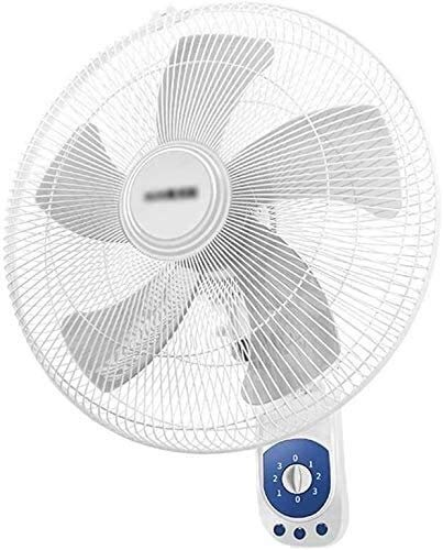 TOPNIU Indoor Oscillating Wall Mounted Fan Cooling Fan Wall Fan,Oscillating|Rotating 3 Speeds|16 Inch|Adjustable Angle|Cooling for Summer in Home/Office-White