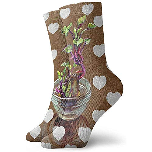 Kevin-Shop Zoete Aardappel Pot Plant Enkelsokken Casual Gezellige Crew Sokken voor Mannen, Vrouwen, Kinderen