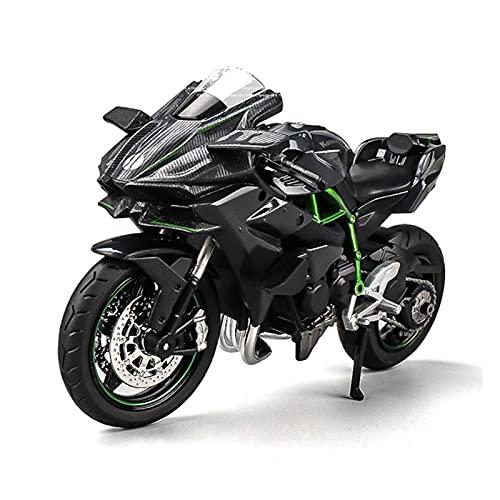 Boutique 1:12 Kawasaki Ninja H2R Aleación estática Motocicleta Modelo Modelo Modelo de Motocicleta Adulto Colección Niño Niño Regalo