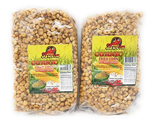 Lucia Cornic Fried Corn - Hot Spicy, 500g, 2 Pack