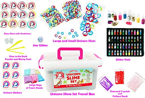 White Tails Unicorn Slime Kit for Girls and Boys 12 Containers of Clear Slime Unicorn Gifts for Girls 5