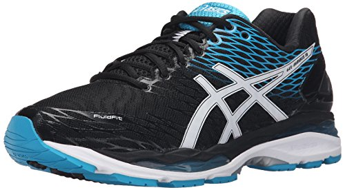 ASICS Men's Gel Nimbus 18 Running Shoe, Black/Silver/Carbon,...