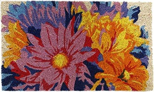 Michel-Toys Knistermann paillasson Flower Tapis paillasson en Fibres de Coco