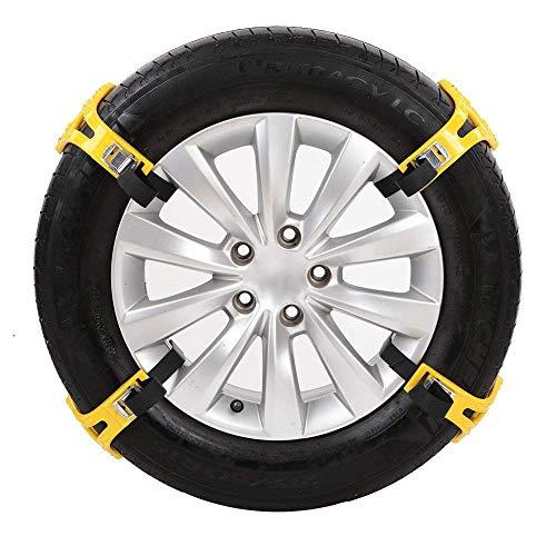 DDDD store Chaînes à Neige - pour Voitures/camions/VUS - antidérapantes et réglables - Roues de Rechange - adaptées à la Plupart des véhicules - faciles à Installer, matériau épais en TPU