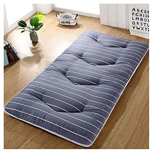 WSGJHB Japanse Tatami vloer matras, dikker gewatteerde ingerichte studentenslaapzaal opvouwbare matras Futon matras topper, anti-slip vloermat enkele tweepersoonsbed Tatami matras 100x200cm(39x79