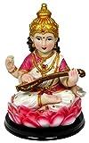 "Krishna Culture Sweet Baby Saraswati Statue 6"" Sarasvati Murti Goddess of Knowledge Idol Golu Doll"