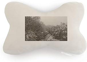 DIYthinker Snowscene Eaves Fotografia Carro Decoração Pescoço Almofada Almofada Almofada para Encosto de Cabeça