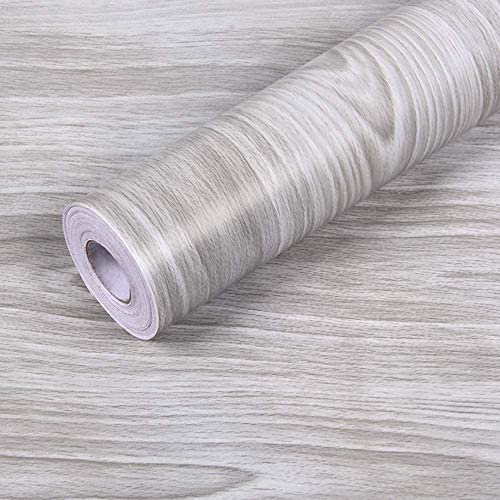Wall Paper Gray Wood Contact Paper 17 7 x 28 Ft PVC Self Adhesive Wood Wallpaper Thick Waterproof product image