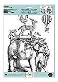 alibabette Ediciones grabados a color Bon Voyage 15,75por 29,97cm 300G de papel + 100G papel de dibujo (col4007)