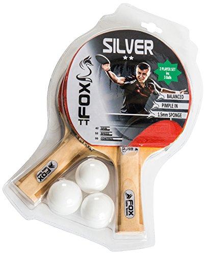 Fox TT – Juego de 2 Raquetas de Tenis de Mesa Unisex...