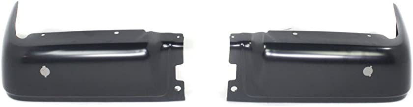 Rear Step Bumper for Ford F-150 2009-2014 Powdercoated Black with Rear Object Sensors Hole Styleside