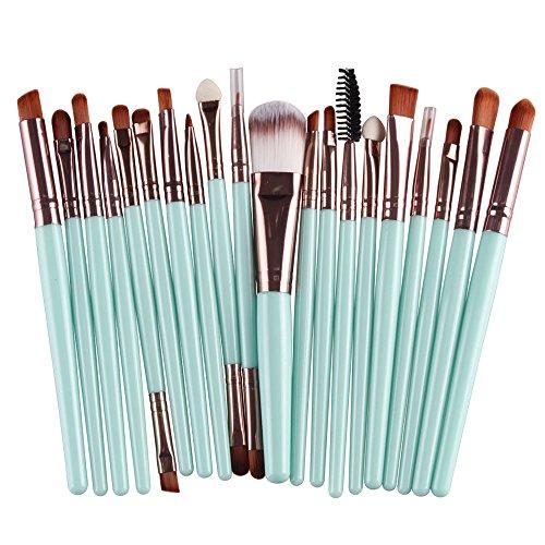 Price comparison product image CINIDY 20 pcs Makeup Brush Set tools Make-up Toiletry Kit Wool Make Up Brush Set(Coffee)
