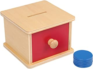 EOFEEL Montessori Materials Object Permanence Box for Toddlers (Imbucare Box w/ Small Circularity)