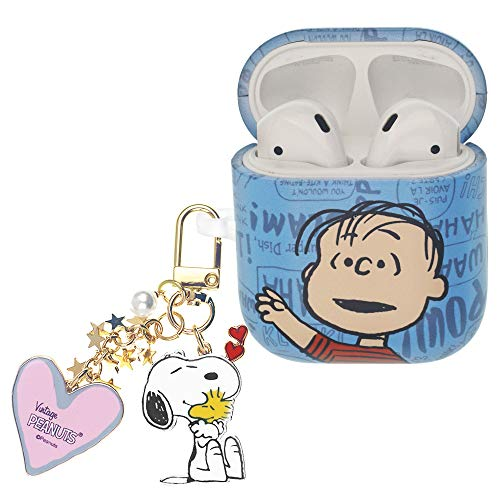 Peanuts Linus Van Pelt ピーナッツ ライナス ヴァン ペルト AirPods と互換性があります ケース スヌーピー キーホルダー エアーポッズ用ケース 硬い スリム ハード カバー (言葉 ライナス) [並行輸入品]