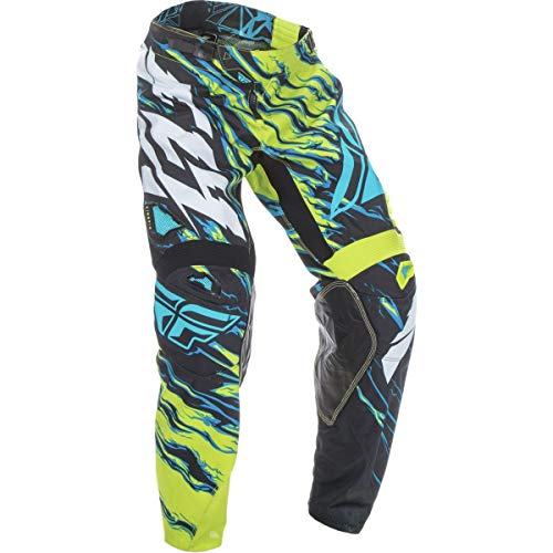 Fly Racing Unisex-Adult Kinetic Relapse Pants (Lime/Blue, Size 30)