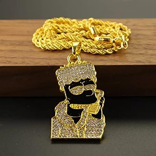 RTEAQ Moda Collar Joyas Gargantilla Collar con Colgante Exquisito y extraño a la Moda, Hip-Hop Rap para Hombres, Primera opción para el Collar de Ropa de Todos los Partidos Parejas Cumpleaños Regalos