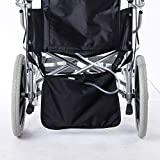 Fushida Wheelchair Under Basket for Infusion Bag, Urine Urainage Bag Holder, A Dignified of Wheelchair Storage Bag, Oxford for Kidney Client(Black, FYH245)