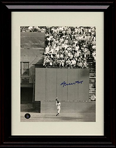 Framed Willie Mays Autograph Replica Print - Polo Ground World Series Catch