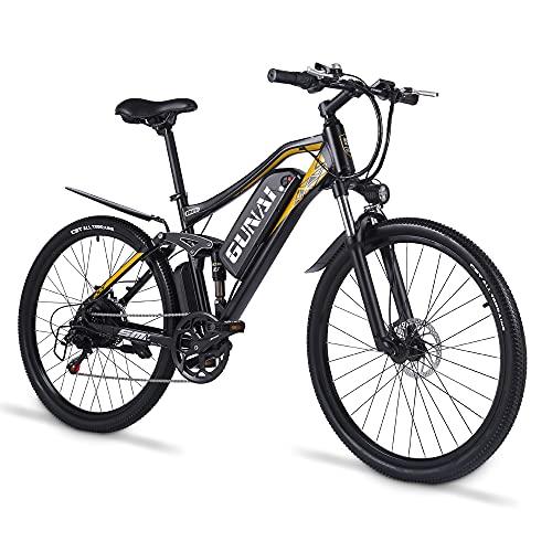 GUNAI 27,5 Zoll Elektrofahrrad für Erwachsene 500W Mountainbike mit 48V 15AH Lithium-Ionen-Batterie