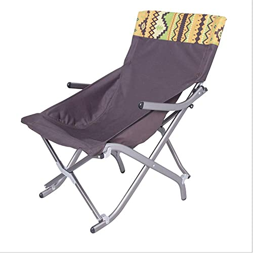Aihifly Chaise Pliante portative de Chaise de Camping appropriée à la Plage de Camping de randonnée Ecurie Portable pour Chaise Outdoor Camping Picnic (Couleur   Marron)