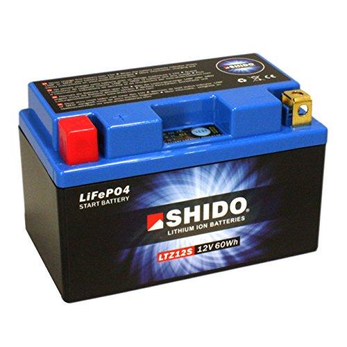 Batterie Shido Lithium LTZ12S / YTZ12S, 12V/11AH (Maße: 150x87x110) für Derbi DFW50 Baujahr 2004