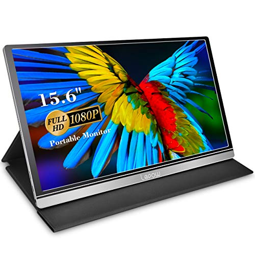 Portable Monitor - Lepow Z1-Gamut (2021) 15.6 Inch FHD 1080P High Color Gamut Computer Display USB C Eye Care Screen with HDMI Type-C Speakers for Laptop PC MAC Phone Xbox PS4 Include Smart Cover