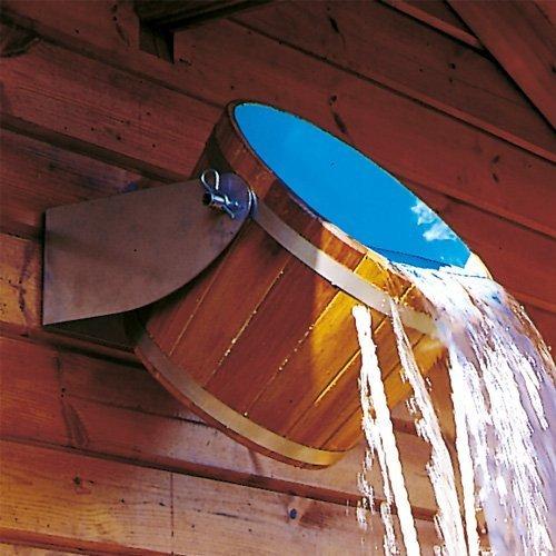 Holz Eimer Schwalldusche Eimerdusche Abkühlung für außen