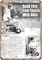 トムサムミニバイクヴィンテージティンサインの装飾ヴィンテージ壁金属プラークレトロバードアイアン絵画カフェバー映画ギフト結婚式誕生日警告