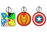 3-Pack Marvel Avengers 2.5' Laser-Cut Rubber Keychains: Hulk, Captain America, Iron Man