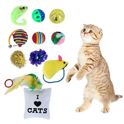 Kayi Katzenspielzeug, Feder, Katzenmaus, interaktiv, Novely Shape Pack für Kätzchen