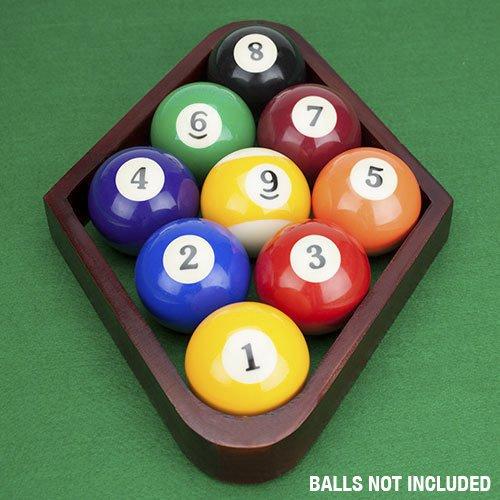 Felson Billiard Supplies Mahogany Stain Triangle and Diamond Billiard Ball Racks