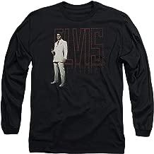 Elvis Presley White Suit Unisex Adult Long-Sleeve T Shirt for Men and Women