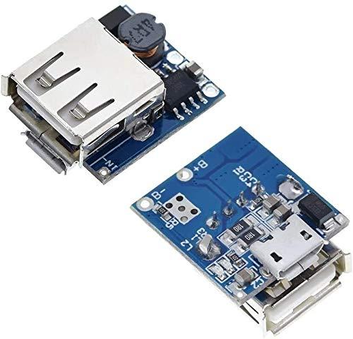 MUKUAI56 2 unids 5 V batería de litio cargador paso hacia arriba placa de protección impulso módulo de potencia micro USB 18650 banco de energía cargador Junta DIY DIY